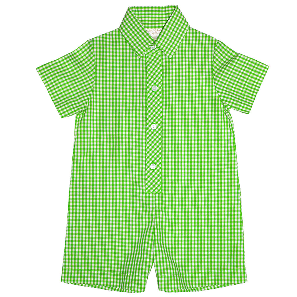 Green Gingham Shortall AYR 3076 SA GR