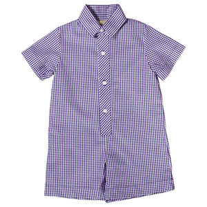 Purple Gingham Shortall AYR 3076 SA PU