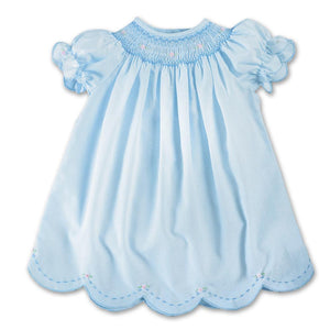 Blue Smocked Scallop Daygown AYR 10SS 3427 A