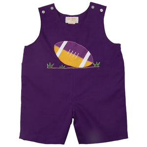 Football Royal Purple Applique Romper AYR 4206 R
