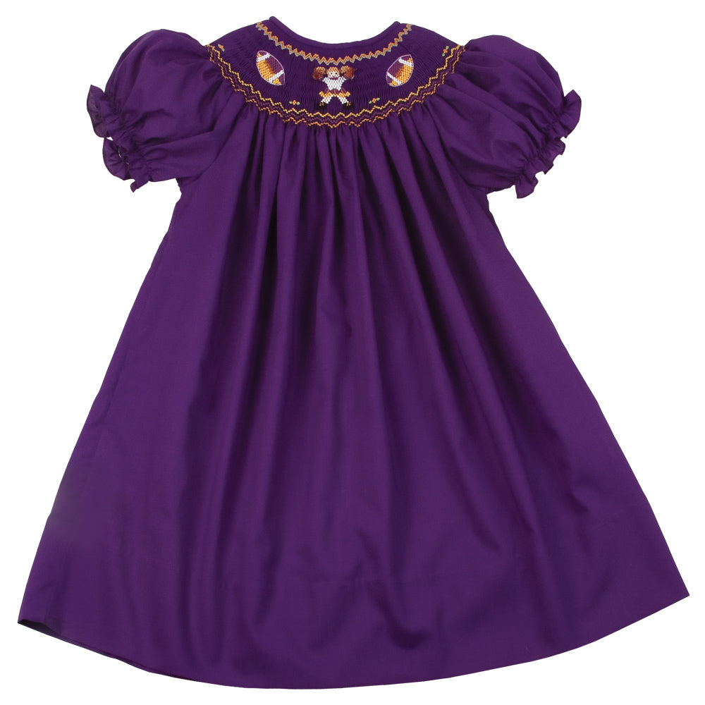 Football Cheer Royal Purple Smocked Bishop AYR 4206 A