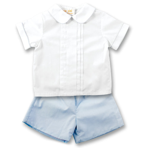 White & Blue 2 pc. Short Set AYR 4316 SS2