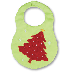 Apple Green Red Christmas Tree Bib 17H 4513 BIB A.GR