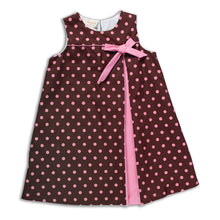 Brown Polka Dot Aline Dress 14F 4998 C