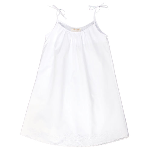 Optic White Embroidered Spaghetti Strap Sundress 5042 SD