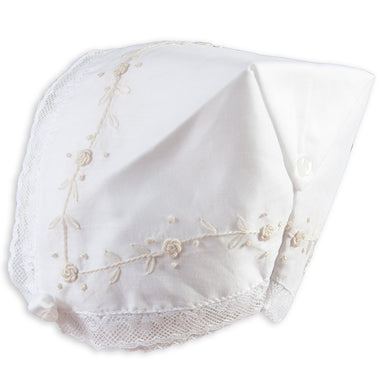 Jules White Hankie Bonnet with Lace 5300
