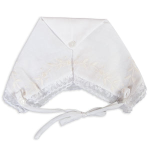 Purdie White Hankie Bonnet with Lace 5301