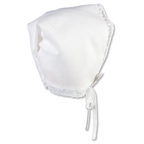 Miriam White Hankie Bonnet with Lace 5302
