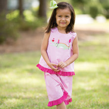 Party Crocodile Pink Gingham Blouse and Pants Set 15SU AYR 5362 BP2