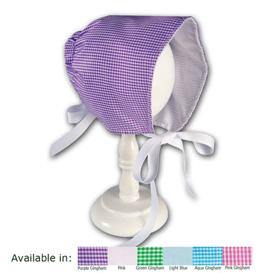 Baby Bonnet with Ribbon Ties (Various Colors) 5574