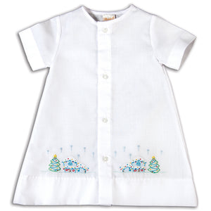 Home at Christmas Shadow Embroidered Boy White Daygown 16H 5690 DGB