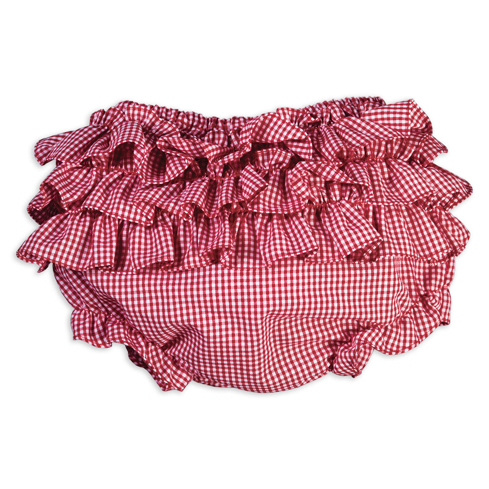 Red Gingham Girl Ruffled Diaper Cover 16SP AYR 5779 DCG RD