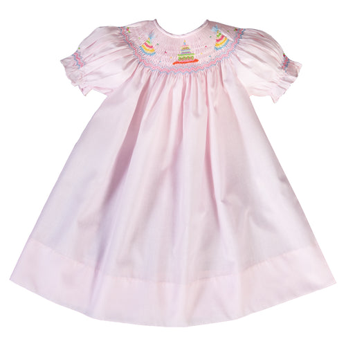 Birthday Party Cake Pink Smocked Bishop 16SP AYR 5783 A PK