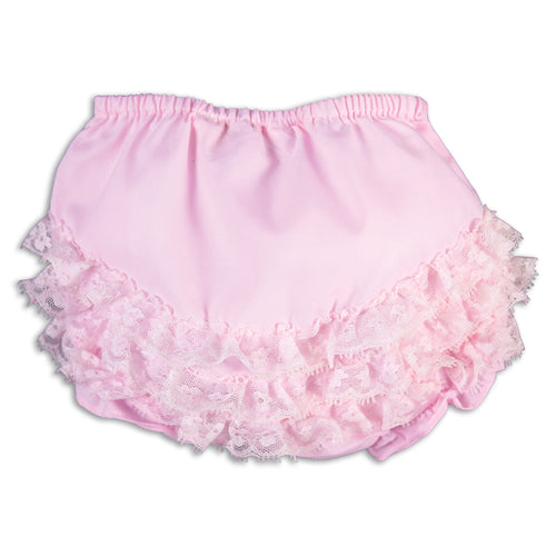 Pink Diaper Cover with Ruffled Lace AYR 5934DCG PK
