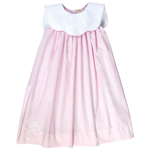 Pink Seersucker Sundress w/White Collar 17SU AYR 5944 SD PK