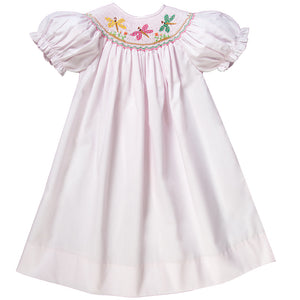 Dragonflies Lt. Pink Smocked Bishop 17SP 5995 A