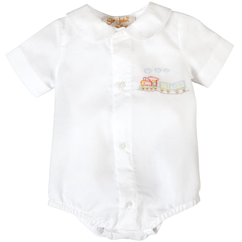 Train Shadow Embroidered White Boy Bubble 17SP AYR 6035 BUB