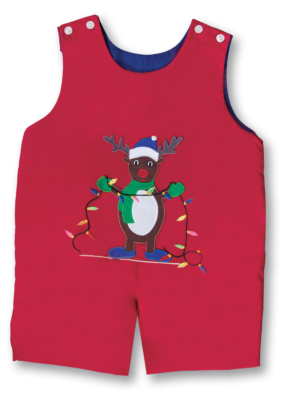Rudolph Holiday Lights Red Reversible Romper 17H 6082 R