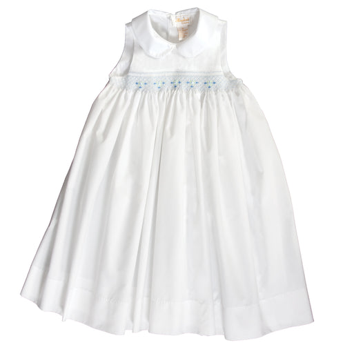Alice White Blue English Smocked Sundress w/Peter Pan Collar 18SU 6142 SD