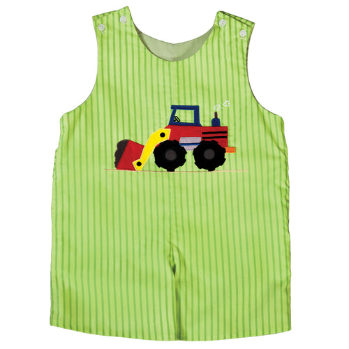 Payloader Green Striped Reversible Romper 18SU 6176 R