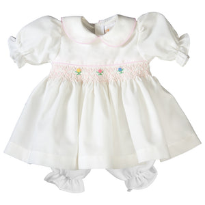 Mary Off White English Smocked Doll Dress 19SP 6385 DD