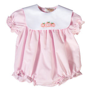 Pumpkins Shadow Embroidered Pink Girl Bubble with White Collar 18F 6449 BUG