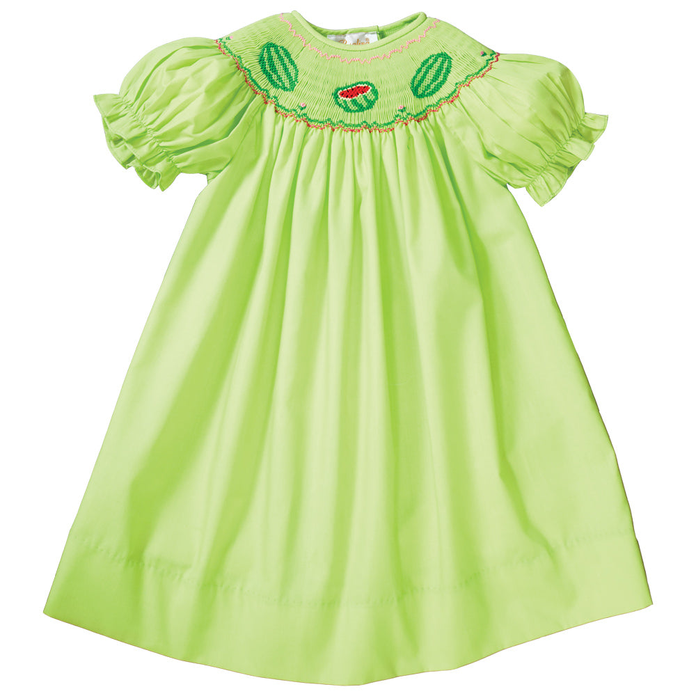 Watermelons Apple Green Smocked Bishop 19SU 6513 A