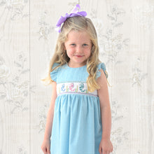 Seahorses Turquoise Gingham Seersucker Smocked Sundress 19SU 6566 SD