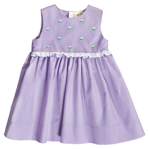 Becca Purple Bullion Flowers w/Lace Sundress 20SP 6691 SD PU