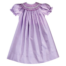 Purple Gingham English Smocked Bishop 20SU 6695 A