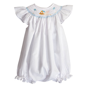 Stork Smocked Girl Bubble with Angel Sleeves 20SP 6745 BUG