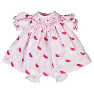 Watermelon Print Pink Doll Bishop Dress 6753 DD