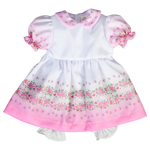 Pink Floral Doll Dress 6754 DD