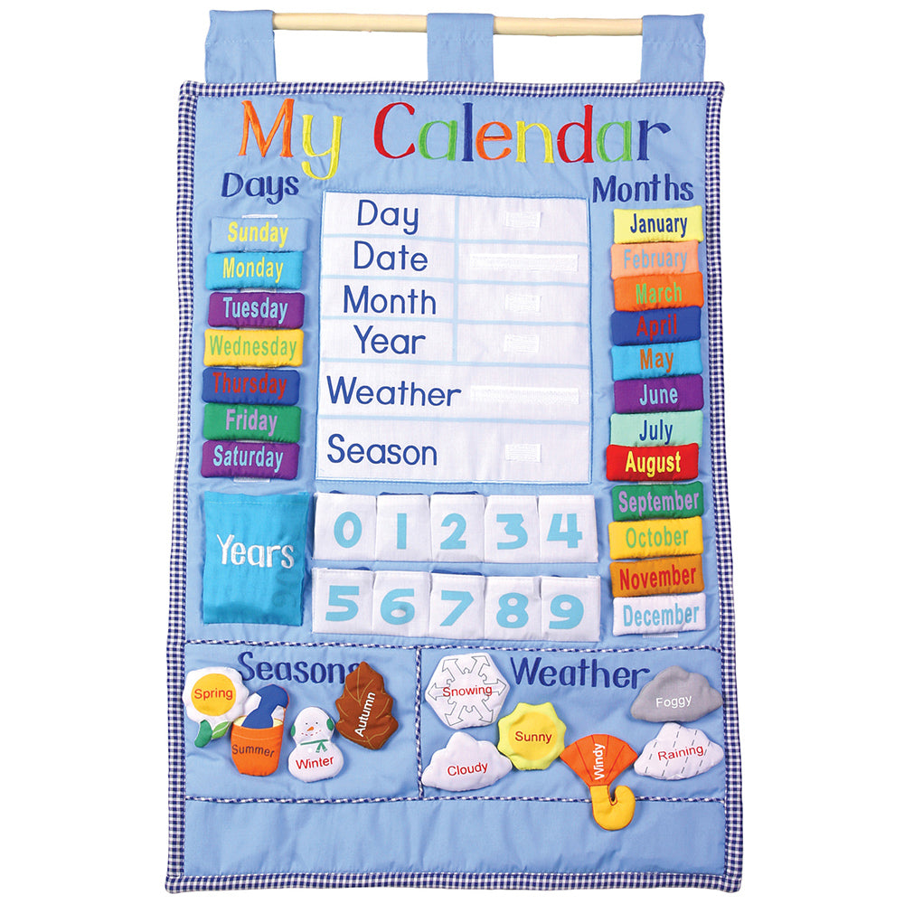 Blue My Calendar Wall Hanging 7129