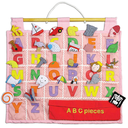 Pink ABC Wall Hanging 7184