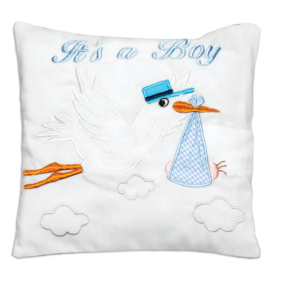 It's a Boy Stork Mini Pillow 7315 B