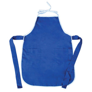 Blue Child Apron with Gingham Trim 7322 DBL