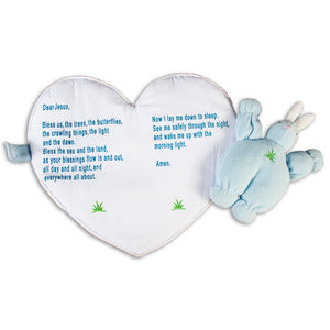 "Blue ""Bedtime Prayer"" Bunting Angel Bunny 7515 BL"