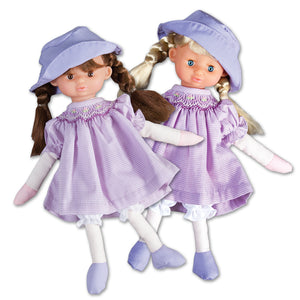"10"" Penny Purple Gingham Doll Predressed 7541"