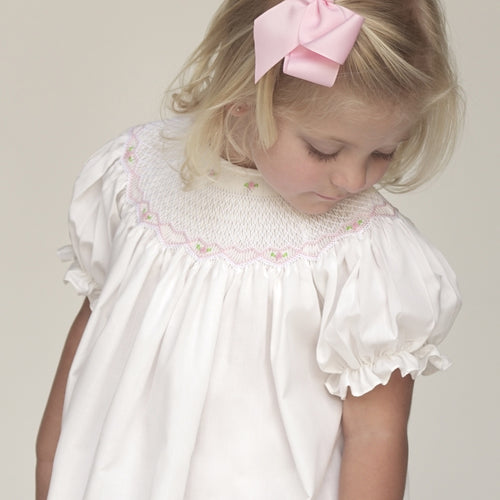 Ivory Roselle Smocked Bishop AYR 917 C