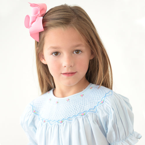 Light Blue Roselle Smocked Bishop AYR 917 B