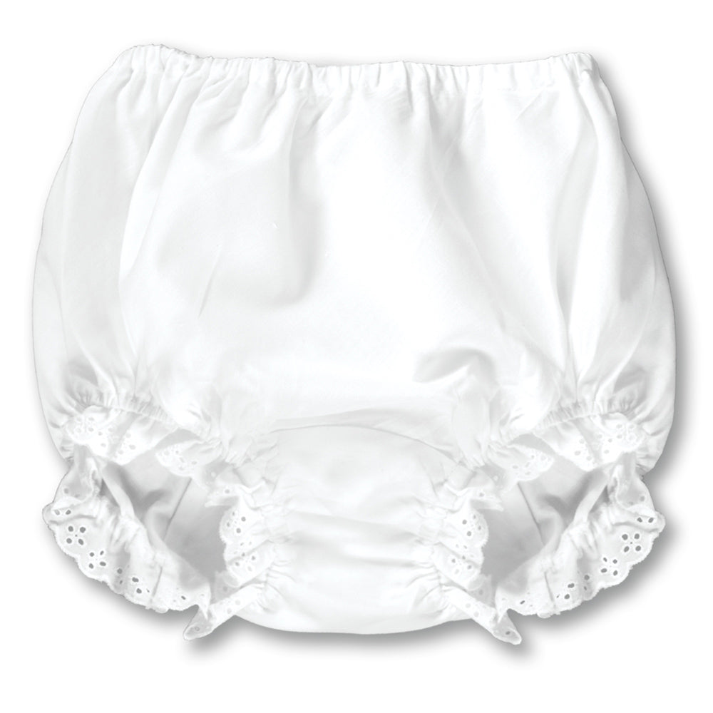 Girl White Diaper Cover with Lace AYR 924 A