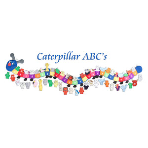 Caterpillar ABC's Educational Wall Hanging Blue Head FO0049BY