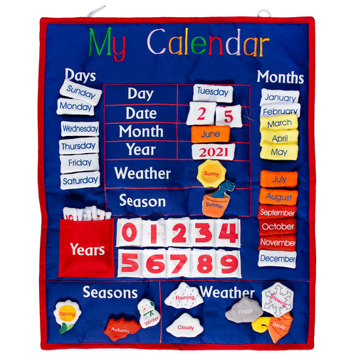 Royal Blue My Calendar Wall Hanging SSC FO 5951