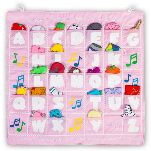 I Know My ABC's Pink Wall Hanging FO7131 SSC BL