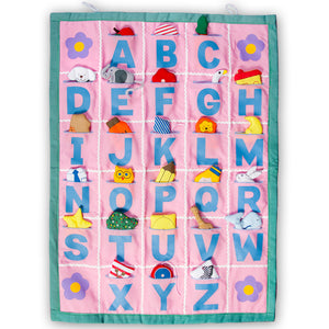 Pink with Green Border ABC Wall Hanging SSC FO7492