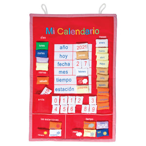 "Red ""Mi Calendario"" Spanish My Calendar FO 7518 RD"