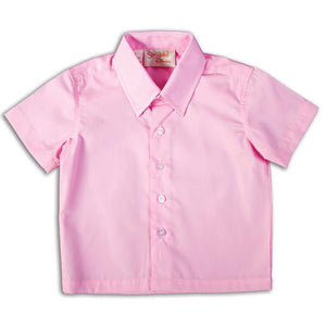 Solid Pink Short Sleeve Polo Pin Point Shirt DAYR J-006A