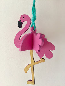 Laser Cut 3D Flamingo