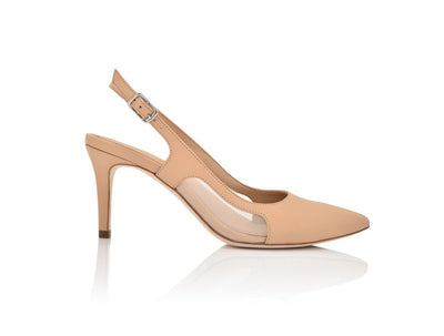 Dance New Nude Nappa/Clear Mesh